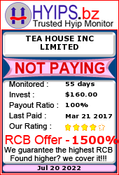hyips.bz - hyip tea house inc