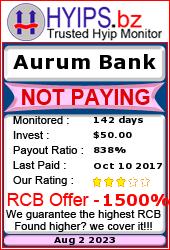 hyips.bz - hyip aurum bank